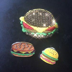 Hamburger pin bundle